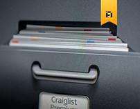 Craigslist Premium iPad UI design