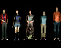 """my reality"" life-sized body scans"