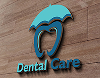Dental Care Logo Design Mockup - Download Now