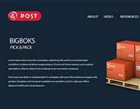Post Danemark website and E-marketing