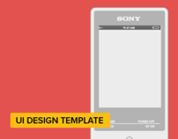 Sony HiRes Walkman UI Template