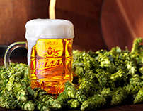 "Beer in hops .Comercial shooting for TM""Oplillia"""