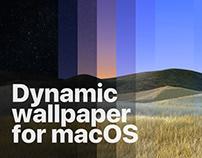 Dynamic wallpaper for macOS
