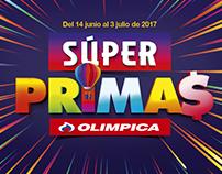 Gráfica para Temporada de SÚPER PRIMAS Olímpica