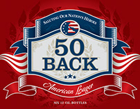 Brand Identity Design: 50 Back, Fine Beer Purveyors