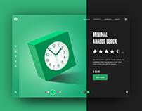 3D Alarm Clock Render - E-commerce Landing Page
