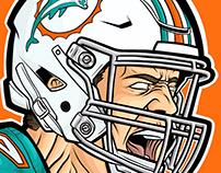 NFL Miami Dolphins Kiko Alonso Illustration