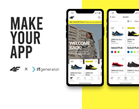 E-commerce app concept for 4F