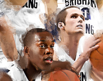BYU Basketball 2012 Water-Color Style Poster