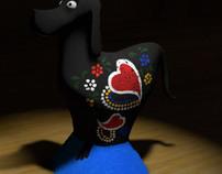 3D Barcelos Dog