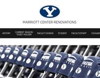 Marriott Center Renovations Website