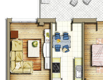 30x50 house plans east facing pdf with Real Estate Watercolor 2d Floor Plans Part 3 On Behance on 30x40 Duplex House Plans Arts in addition Floor Plan For A Small House 1150 Sf With 3 Bedrooms And 2 Baths further 30x40 Duplex House Plans In furthermore 40 X 50 House Plans East Facing moreover Vastu For Home Plan Pdf.