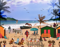 Estampa Praia