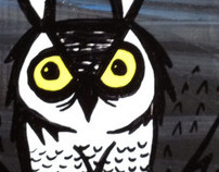 night owl original painting