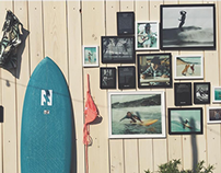 Billabong x the Daily Montauk Party Surf Wall