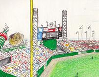 San Francisco Giants BASEBALL GAME SKETCHES 1993 - 2011