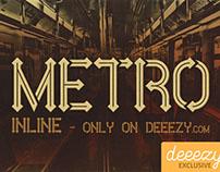 Metro Inline - Free Font
