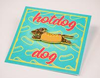 Hotdog Dog enamel pin