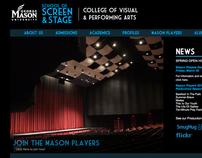 School of Screen & Stage Website Redesign