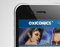Oxicomics mobile interface