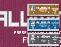 Aluminum Office Identity, labels, website