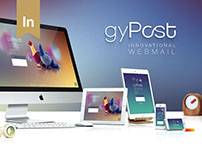 Web design UX/UI | gyPost. Innovational Webmail