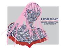 Female intellectual empowerment graphic