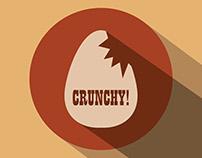 Crunchy! - flat logo