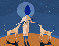 Artemis & her hunting priestesses