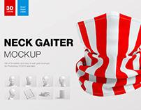 Neck Gaiter Mockup + Freebie Scene