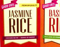 GOOD EATS rice packaging design