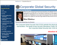 Revamp of Corporate Security Website