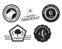 Hipsterised Logos of Indonesian Parties