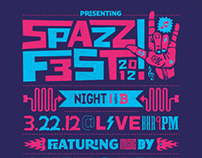 Spazz Fest 2012 Posters
