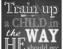Train Up a Child Poster 2017