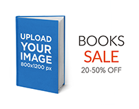 eBook Ads - Hard-Cover Book Standing on a Flat Surface