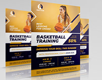 Basketball Training Flyer Template