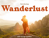 Wanderlust - Soft Vintage Typeface