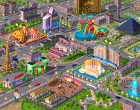 Vegas. Map for social game