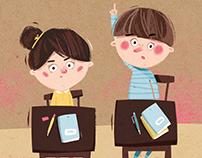 school book illustrations