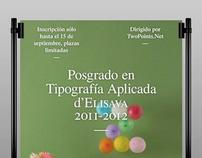 Elisava Postgraduate Typography Poster
