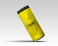 Zygra Energy Drink label design