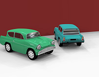 Ford Anglia Toy Car - 3D model
