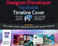 Designer / Developer Facebook Timeline Cover -PSD-