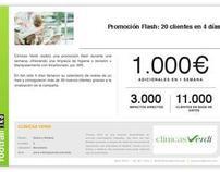 Clínicas Verdi: Promoción Flash 20 clientes en 4 días