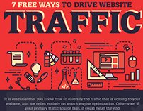8 Free Ways To Drive Website Traffic – Infographic