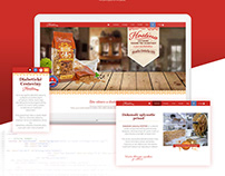 Hostina - Diabetic pasta web and packing design