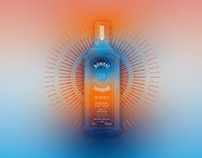 Bombay Sapphire Sunset Key Visual and Poster Design