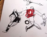 bergkamp v Newcastle: Sequential illustration/animation