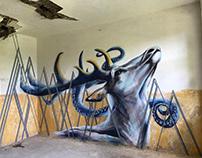MIXED ART MURAL // Attitude // tape art & graffiti